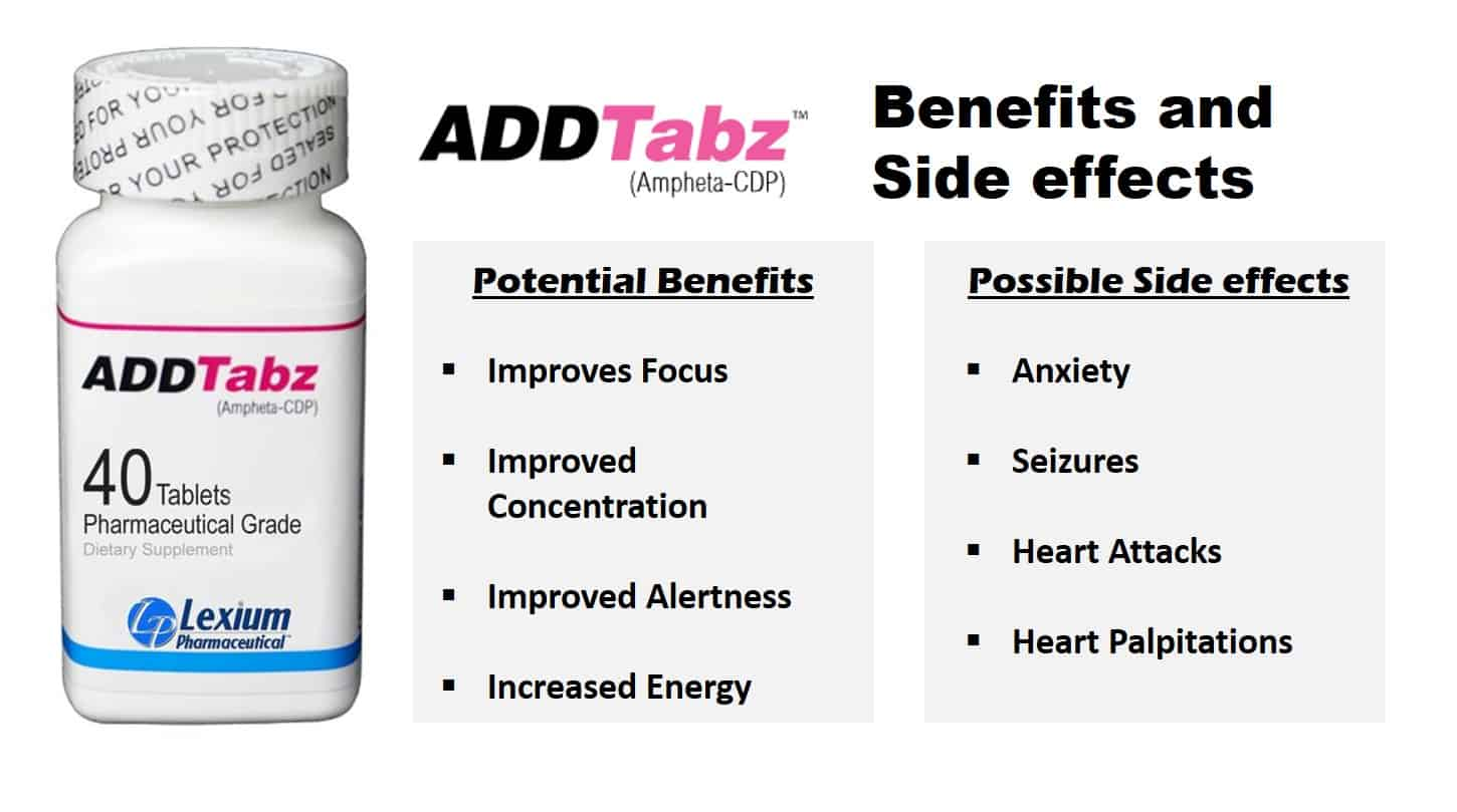 A list of the benefits and side efefcts of ADDTabz